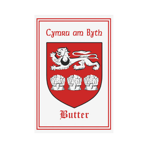 Butter (Of Flint) Welsh Garden Flag A9 |Home Decor| 1sttheworld