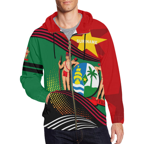 Suriname Zip Hoodie Fall In The Wave - For Men