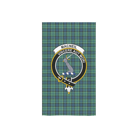 MacNeill of Colonsay Ancient Tartan Towel Clan Badge NN5