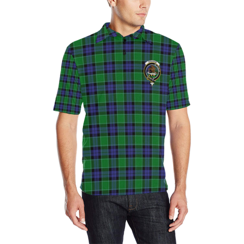 Image of Graham Of Menteith Modern Tartan Clan Badge Polo Shirt HJ4