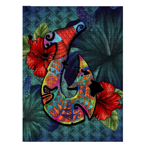 Kanaka Maoli (Hawaiian) Wood Puzzle - Fish Hook Hibiscus | Love The World