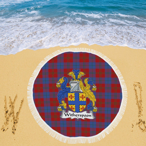 WITHERSPOON CLAN BADGE TARTAN BEACH BLANKET th8