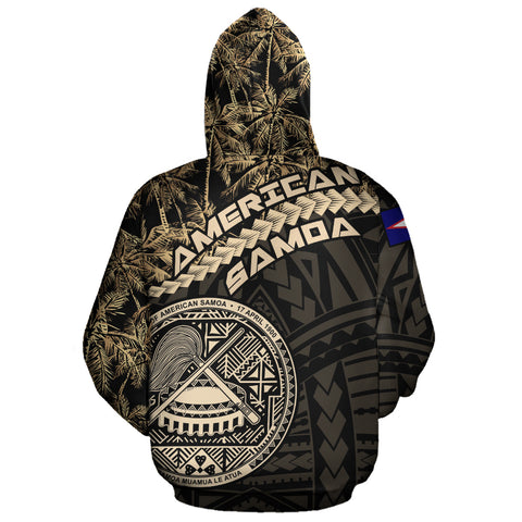 Image of American Samoa Zip Hoodie Golden Coconut A02