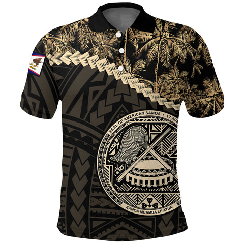 American Samoa Polo Shirt Golden Coconut | Clothing | Love The World