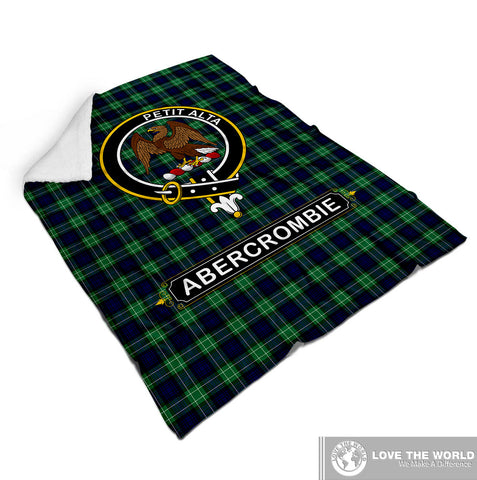Abercrombie (Or Abercromby) Tartan Blanket | Clan Crest | Shop Home Decor