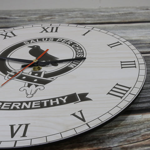 Image of Abernethy Tartan Clan Badge Wooden Wall Clock HJ4