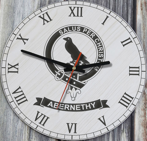 Abernethy Tartan Clan Badge Wooden Wall Clock HJ4
