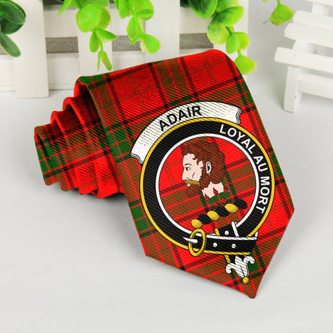 Image of Adair Tartan Tie with Clan Crest TH8