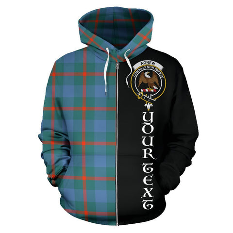 (Custom your text) Agnew Ancient Tartan Hoodie Half Of Me | 1sttheworld.com