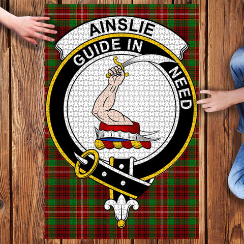 Image of Tartan Puzzle - Ainslie Clan Tartan Jigsaw Puzzle - BN