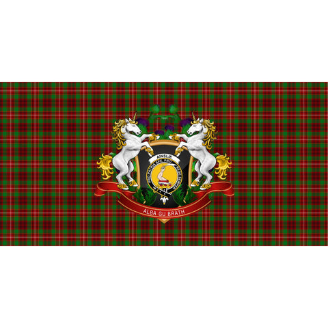 Image of Ainslie Crest Tartan Tablecloth Unicorn Thistle A30