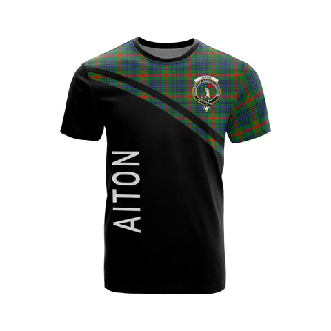 Tartan Shirt - Aiton Clan Tartan Plaid T-Shirt Curve Version Front