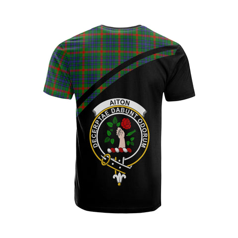 Tartan Shirt - Aiton Clan Tartan Plaid T-Shirt Curve Version Back