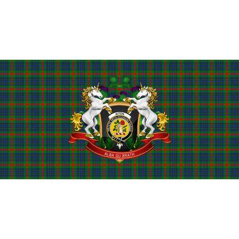 Aiton Crest Tartan Tablecloth Unicorn Thistle A30