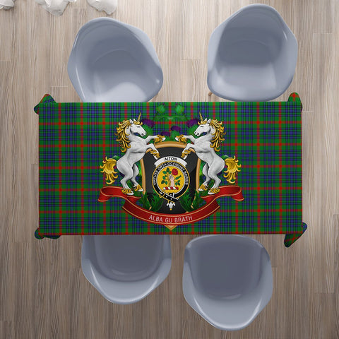 Aiton Crest Tartan Tablecloth Unicorn Thistle | Home Decor
