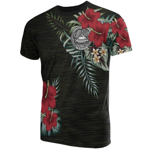 Image of American Samoa Hibiscus T-Shirt A7