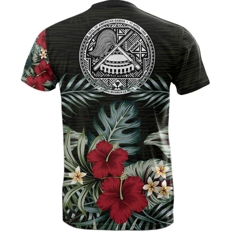 Image of American Samoa Hibiscus T-Shirt | Men & Women | 1sttheworld.com