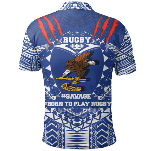 American Samoa Tattoo Rugby Polo Shirt K5