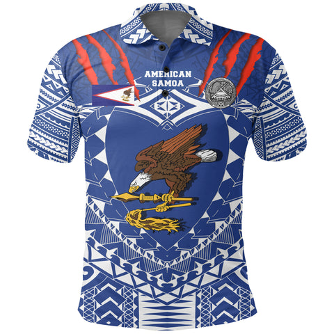 Image of American Samoa Tattoo Rugby Polo Shirt K5
