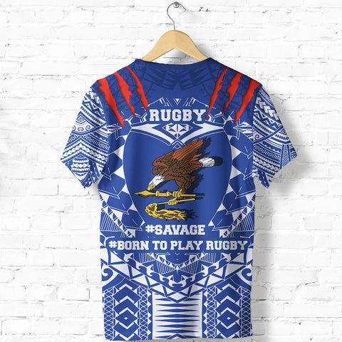 Image of American Samoa Tattoo Rugby T Shirt K5