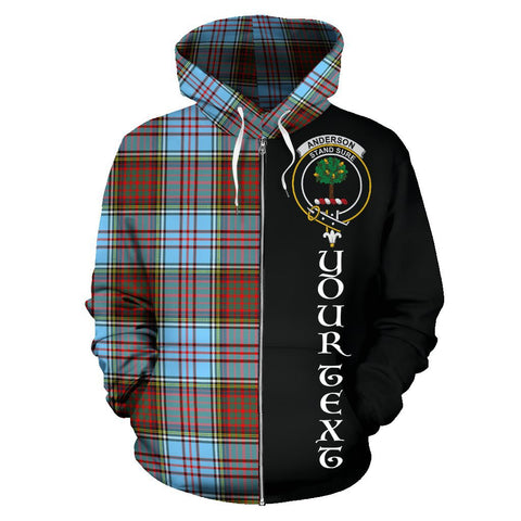 (Custom your text) Anderson Ancient Tartan Hoodie Half Of Me | 1sttheworld.com