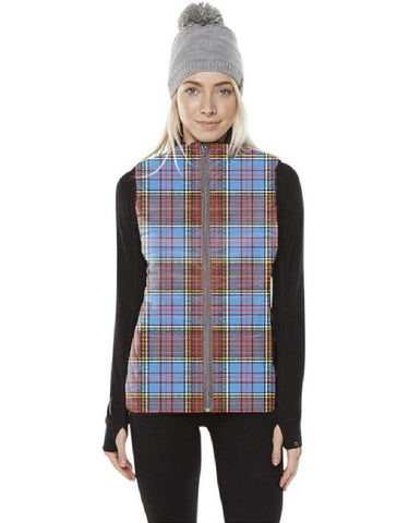 Anderson Modern Tartan Puffer Vest for Men and Women K5