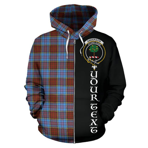(Custom your text) Anderson Modern Tartan Hoodie Half Of Me | 1sttheworld.com