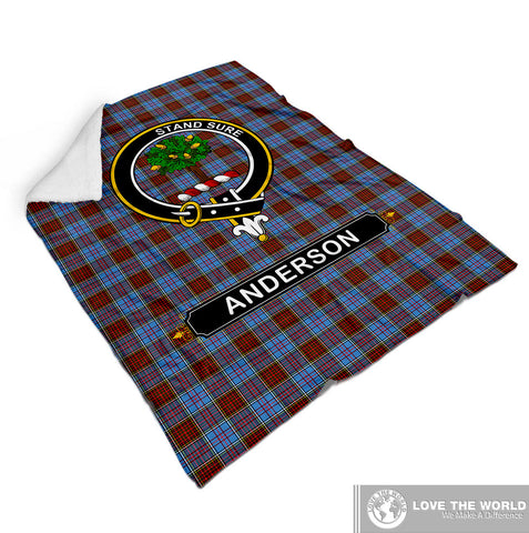 Image of ANDERSON CLAN TARTAN BLANKET A1