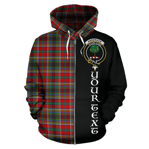 (Custom your text) Anderson of Arbrake Tartan Hoodie Half Of Me | 1sttheworld.com