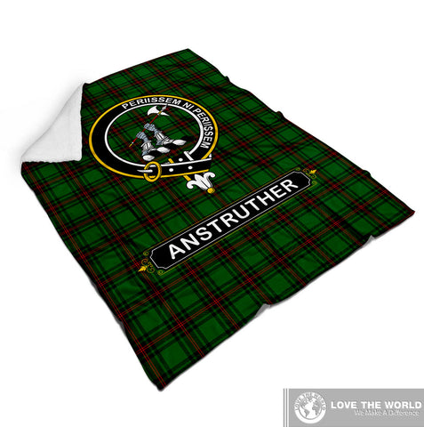 Image of Anstruther Tartan Blanket | Clan Crest | Shop Home Decor
