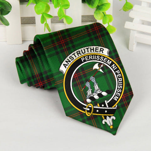 Image of Anstruther Tartan Tie with Clan Crest TH8