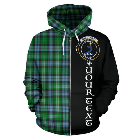 (Custom your text) Arbuthnot Ancient Tartan Hoodie Half Of Me | 1sttheworld.com