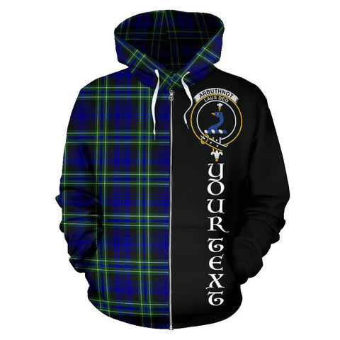 (Custom your text) Arbuthnot Modern Tartan Hoodie Half Of Me | 1sttheworld.com
