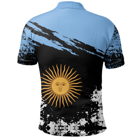 Image of Argentina Polo Shirt Customized K5