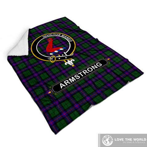 Image of Armstrong Tartan Blanket | Clan Crest | Shop Home Decor