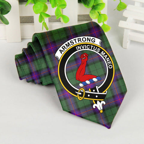 Armstrong Tartan Tie with Clan Crest TH8