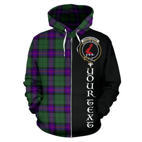 Image of (Custom your text) Armstrong Modern Tartan Hoodie Half Of Me | 1sttheworld.com