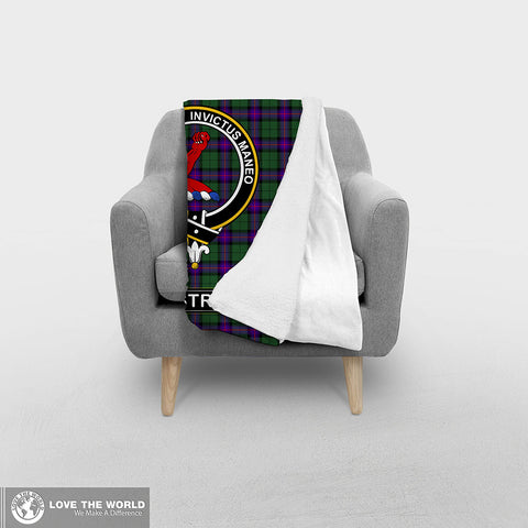 Image of ARMSTRONG CLAN TARTAN BLANKET A1