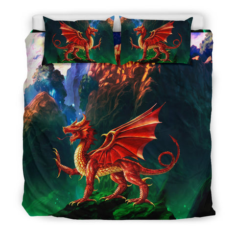 The Welsh Dragon, The Red Dragon, Y Ddraig Goch, Welsh symbol, Welsh Dragon Bedding Set.