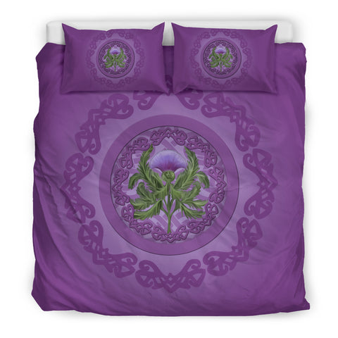 Thistle Scottish Purple Luxury Bedding Set - Bn01