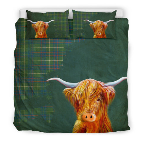 Image of Macintyre Hunting Ancient Tartan Scottish Highland Cow Bedding Set HJ4