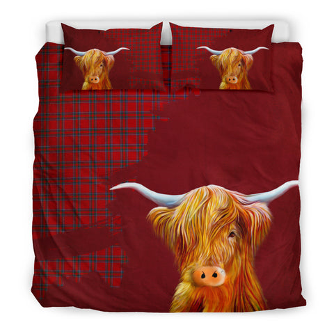 Image of Inverness District Tartan Scottish Highland Cow Bedding Set HJ4