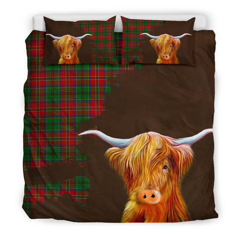 Image of Mcculloch Tartan Scottish Highland Cow Bedding Set HJ4