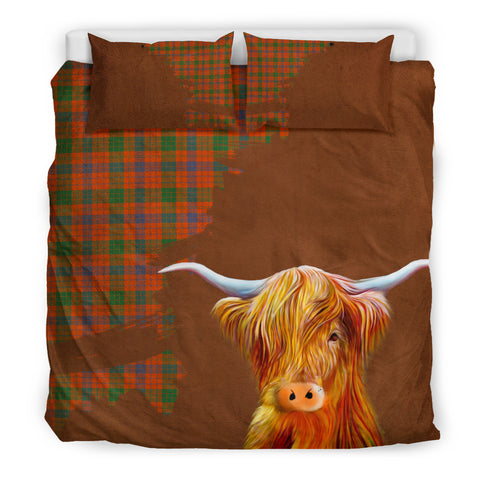 Ross Ancient Tartan Scottish Highland Cow Bedding Set HJ4
