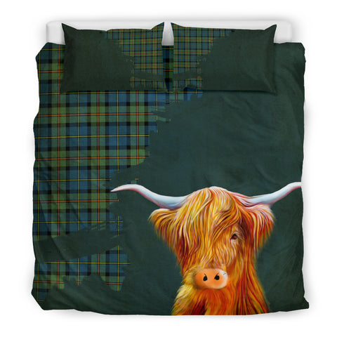 Image of Macleod Of Harris Ancient Tartan Scottish Highland Cow Bedding Set 01 HJ4