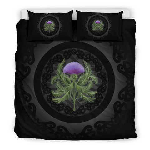 Thistle Scottish Black Luxury Bedding Set - Bn01