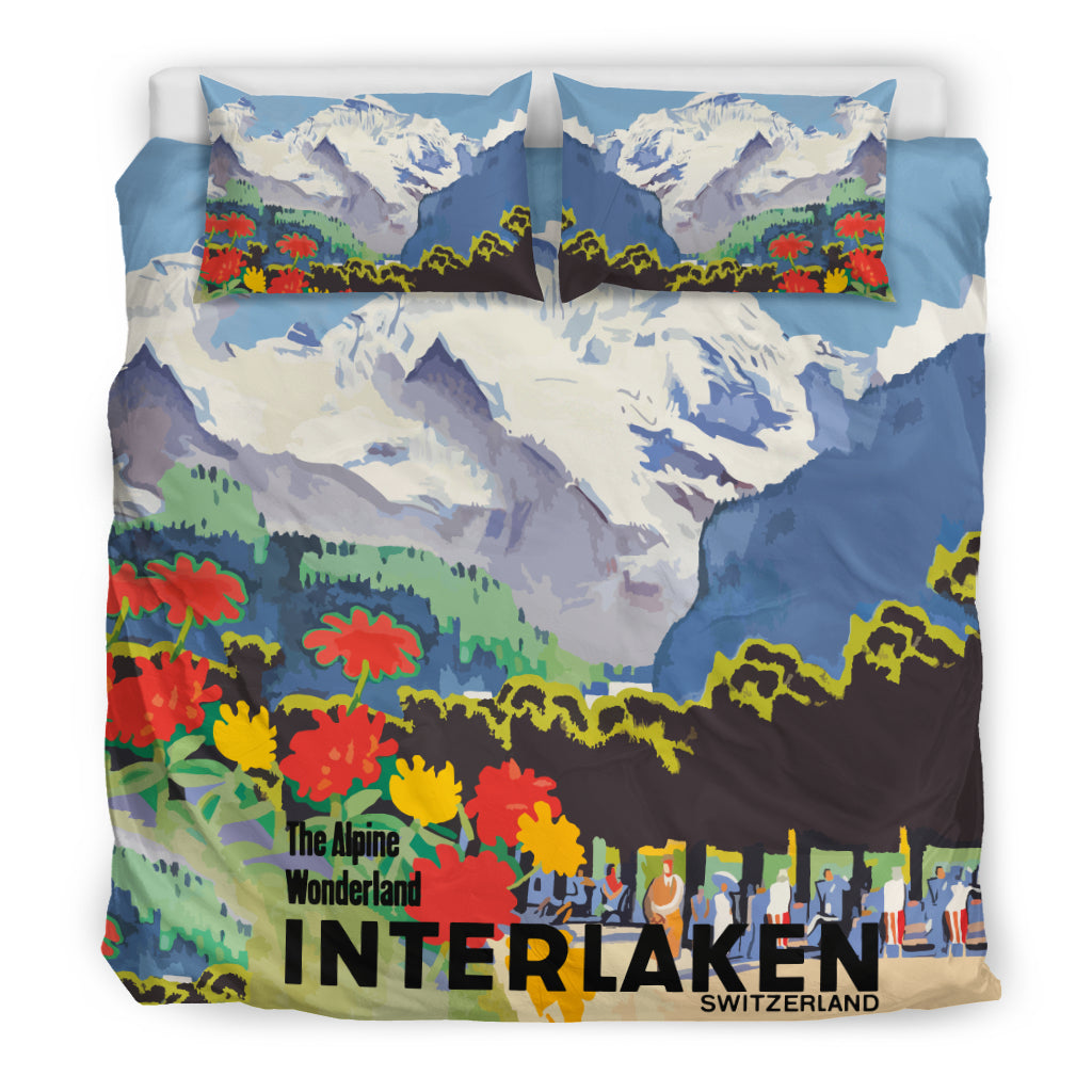 Switzerland Bedding Set - Interlaken Town K3