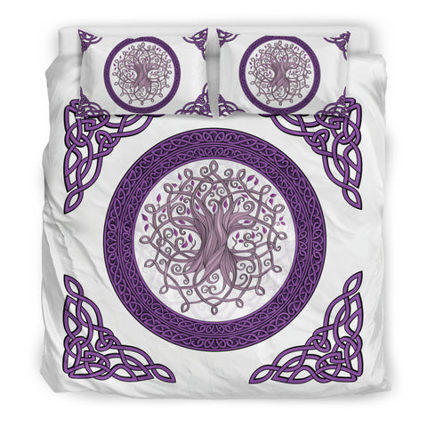 Image of Celtic Bedding Set - The Celtic Tree Duvet Cover (White Edition) | Hot Sale