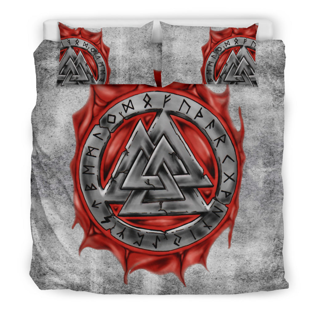 Birthday Thanksgiving for Dad Mom Husband Wife Kids Son Daughter Viking Quilt Odins Ravens Fenrir Skoll and Hati Valknut Quilt King Queen Twin Size