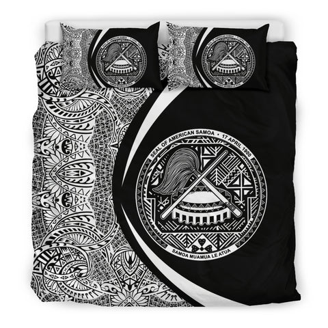 American Samoa Coat Of Arms Polynesian Bedding Set - Circle Style 01 J9